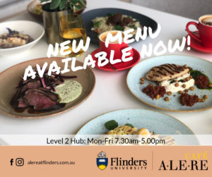 New menu now available at Cafe Alere.